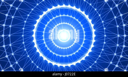 Abstract circle connection. 3d rendering - Stock Photo
