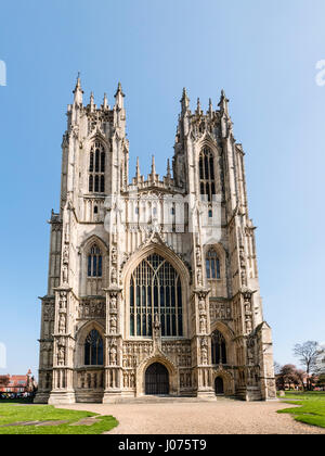 West end of Beverley Minster East Yorkshire UK Large Church of England Parish Church built from 1220 in Early English - Stock Photo
