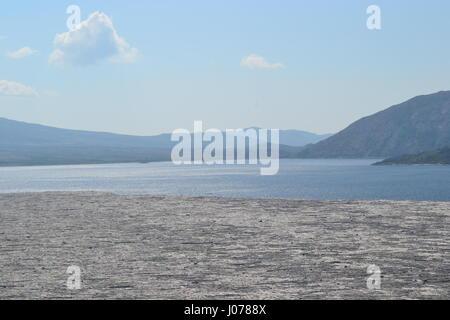 Spirit Lake in Mt Saint Helens National Volcanic monument - Stock Photo