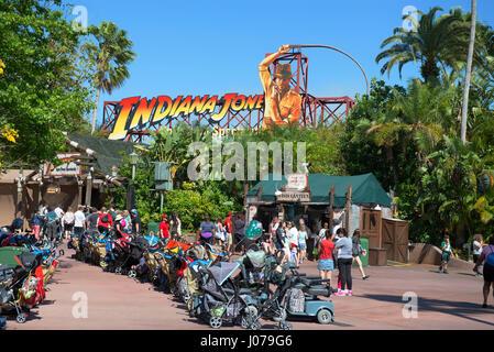 Indiana Jones, Epic Stunt Spectacular, Disney World, Orlando Florida - Stock Photo