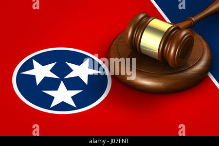 legal system tennessee state law legal system and justice concept with a 3d