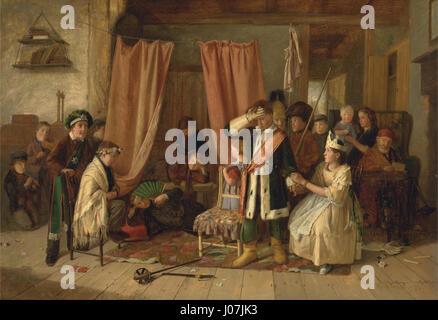 Charles Hunt - Children acting the 'Play Scene' from  Hamlet,  Act II, Scene ii - - Stock Photo