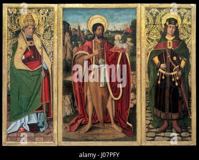 Miguel Ximénez - Saint John the Baptist, Saint Fabian and Saint Sebastian - - Stock Photo