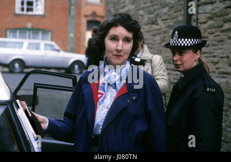 Baroness Susan De Stempel formerly Susan Wilberforce court appearance 1988 - Stock Photo