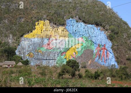 Mural de la prehistoria vinales stock photo royalty free for Mural de la prehistoria cuba