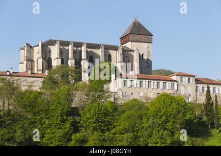 France, Pyrenees, Saint Bertrand de Comminges, Cathedral - Stock Photo