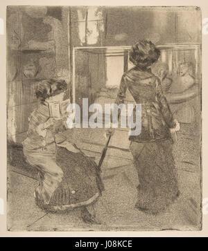 Edgar Degas, Mary Cassatt at the Louvre - The Etruscan Gallery, 1879E2809380 - Stock Photo