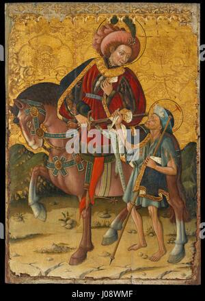Blasco de Grañén - Saint Martin Sharing his Cloak - - Stock Photo