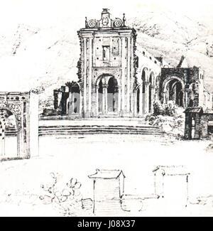 Ruinas de la iglesia de la Santísima Trinidad en Caracas - Ferdinand Bellermann