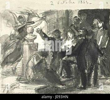 Fantin-Latour Etude de Hommage à Delacroix - Stock Photo