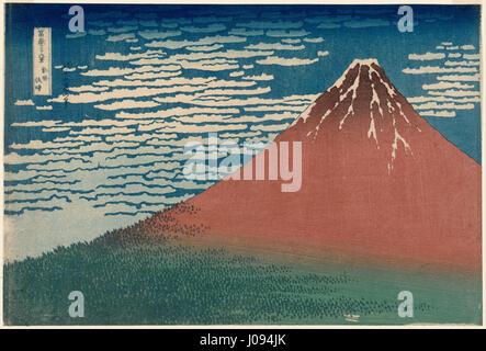 Katsushika Hokusai, published by Nishimuraya Yohachi (Eijudō) - Fine Wind, Clear Weather (Gaifū kaisei), also known - Stock Photo
