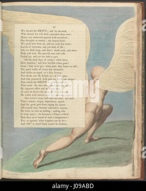 William Blake - Young's Night Thoughts, Page 25,  Behold him, when past by; what then is seen  - - Stock Photo