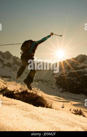 Hiking Nordic Walking Fitness Mountain Walking - Stock Photo