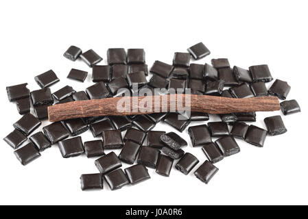 licorice collection isolated on white - Stock Photo