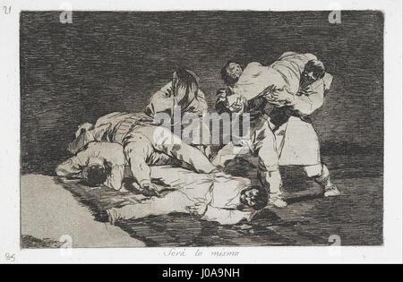 Francisco de Goya - The same (Será lo mismo) from the series Disasters of War (Desastres de la Guerra) - - Stock Photo