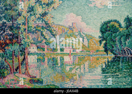Paul Signac (1863 Paris 1935), Les Andelys. Château-Gaillard. 1921 - Stock Photo