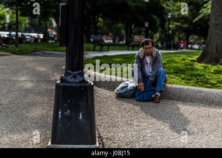 WASHINGTON DC, USA: AS THE US Presidential race hots up shocking images reveal the squalid conditions homeless people - Stock Photo