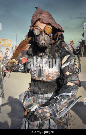 CALIFORNIA, USA: INCREDIBLE pictures have emerged from the annual festival that celebrates a post-apocalyptic world - Stock Photo