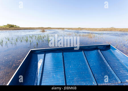 Airboat tour in the Everglades National Park. Florida, United States - Stock Photo