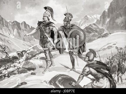 Alexander in the Arachosian Mountains, (Afghanistan) 329 BC.  Alexander III of Macedonia, 356 BC – 323 BC, aka Alexander - Stock Photo