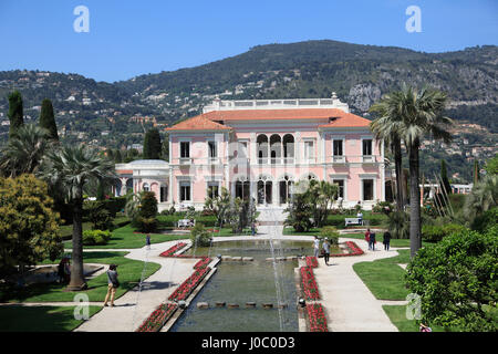 Ephrussi de Rothschild Villa, Saint Jean Cap Ferrat, Alpes Maritimes,Cote d'Azur, French Riviera, Provence, France - Stock Photo