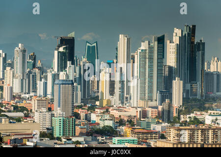 View over Panama City from El Ancon, Panama, Central America - Stock Photo