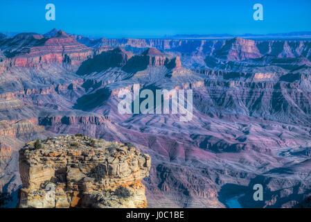 From Turnout near Lipan Point, Rim, Grand Canyon National Park, UNESCO World Heritage Site, Arizona, USA - Stock Photo
