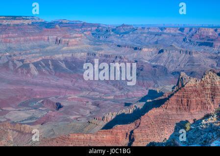 From Lipan Point, Rim, Grand Canyon National Park, UNESCO World Heritage Site, Arizona, USA - Stock Photo