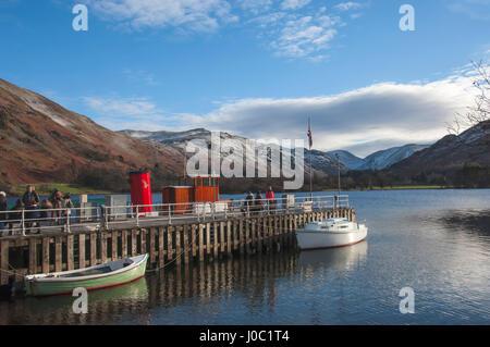 Glenridding Boat Landing, Lake Ullswater, Lake District National Park, Cumbria, England, UK - Stock Photo