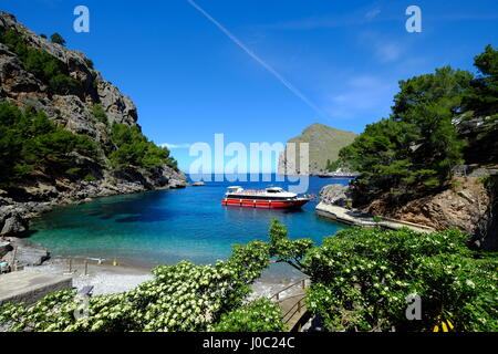 Port de Sa Calobra, Majorca, Balearic Islands, Balearic Islands, Spain, Mediterranean - Stock Photo