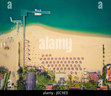 Aerial view of a resort on Mussulo in Angola's capital city of Luanda. - Stock Photo