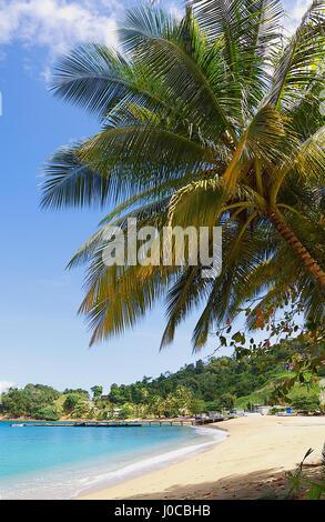Republic of Trinidad and Tobago - Tobago island - Parlatuvier bay - Caribbean sea - Stock Photo