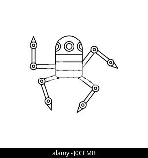 Robot spider icon, outline style - Stock Photo