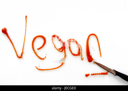 The word 'Vegan' shown as lifestyle graffiti - Stock Photo