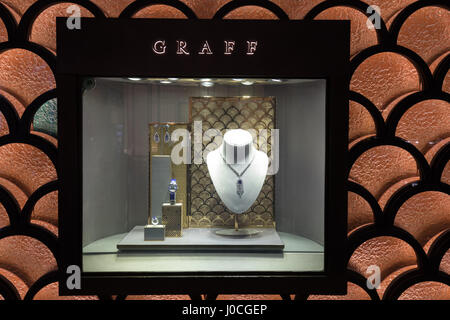 The Graff store in Dubai Mall. UAE - Stock Photo