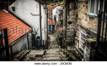 Road at Staithes, North Yorkshire Stock Photo, Royalty Free Image: 96173296 - Alamy