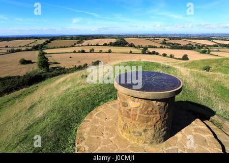 Burrough Hill Iron Age Hill Fort Seen Across Cornfields