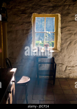 New Light Through Old Windows, Traditional Farm House - Stock Photo