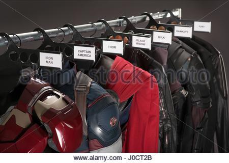 AVENGERS COSTUMES AVENGERS: AGE OF ULTRON (2015) - Stock Photo