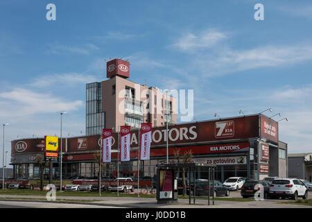 Kia Motors dealership in Ljubljana, Slovenia - Stock Photo