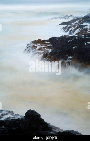 Devil's Churn along Restless Waters Trail, Cape Perpetua Scenic Area, Siuslaw National Forest, Oregon - Stock Photo