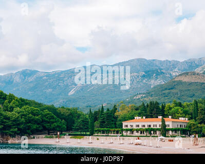 The Villa Milocer is one of the most beautiful resorts of the Bu - Stock Photo