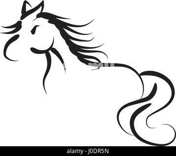 Hand drawing horse Illustration - Stock Photo