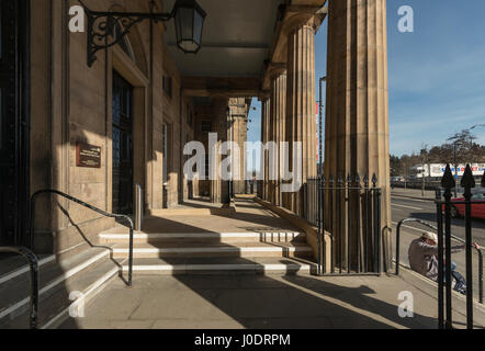 New disability access ramp at Perth Sheriff Court, Perth city centre,Tayside,Scotland,United Kingdom - Stock Photo