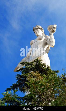 Statue of Mother Georgia, Kartlis Deda on the top of Sololaki hill in Tbilisi, Georgia - Stock Photo