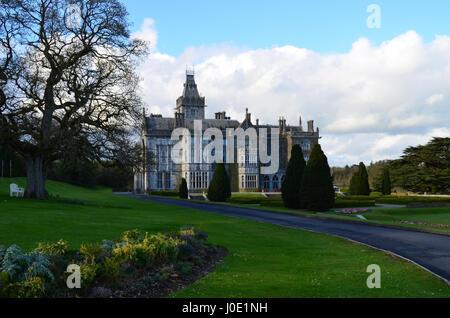 Grounds surrounding Ireland's Adare Manor in Limerick County. - Stock Photo