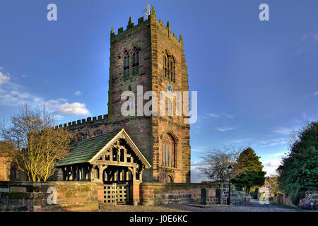 St Marys and All Saints Church in the Cheshire village of Great Budworth. - Stock Photo