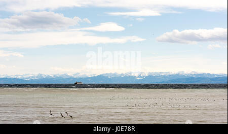 Beautiful panorama at Lake Constance - Stock Photo
