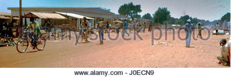 Africa, Central African Republic, View Of Village Street Scene (Year 2000) - Stock Photo