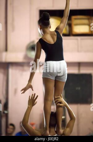 Circus performers, Havana, Cuba - Stock Photo